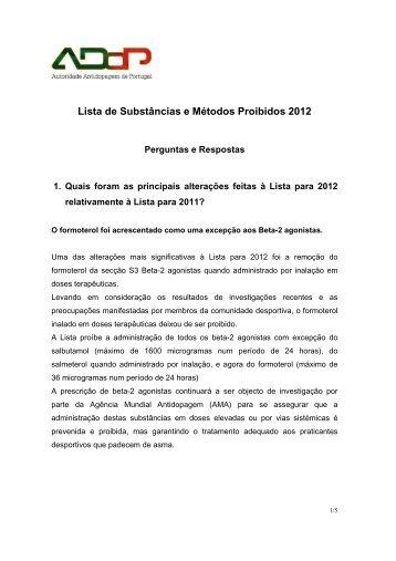 Perguntas e Respostas sobre a Lista de 2012