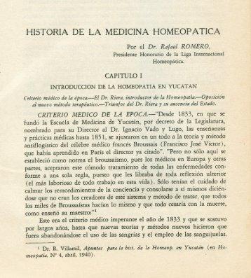 historia de la medicina homeopatica - Biblioteca Virtual de Yucatán