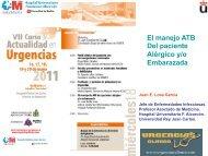 El manejo ATB Del paciente Alérgico y/o ... - Urgencias Clínico