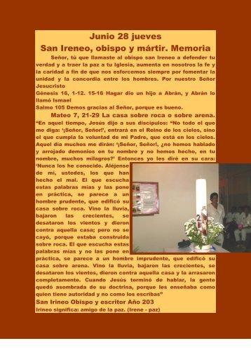 Junio 28 jueves - Autores Catolicos