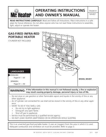 heller heater operating instructions manual