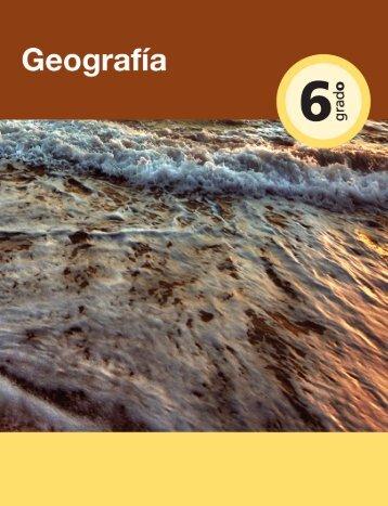 Geografía. Sexto grado - Dirección de Educación Especial