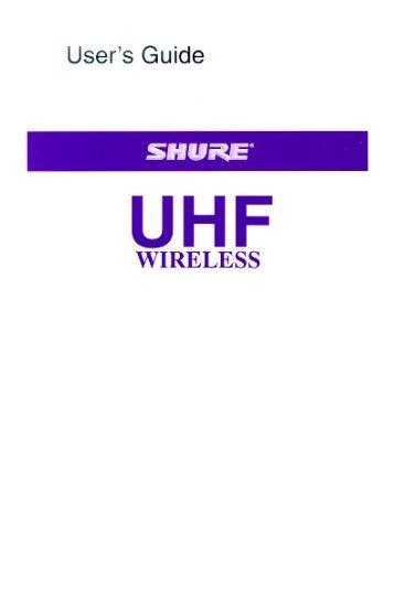 Shure UHF Wireless User Guide Spanish
