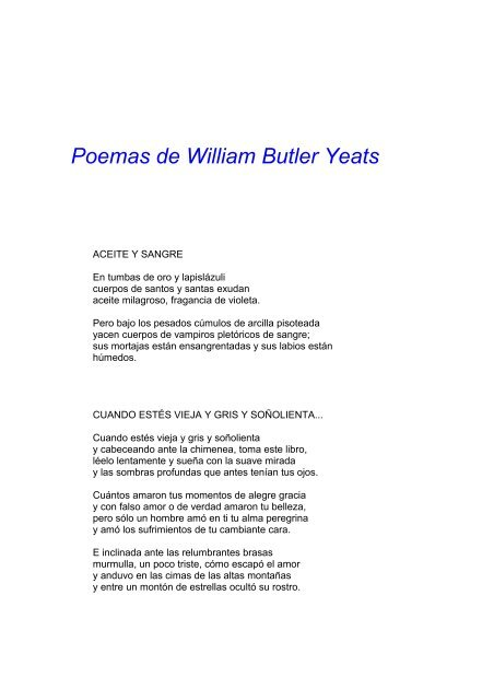 William Butler Yeats Pdf