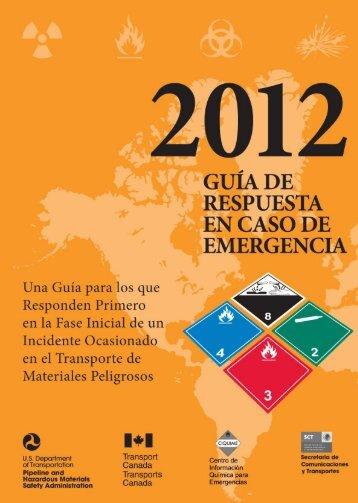 Guia de Respuesta a Emergencias 2012 - Cetesb