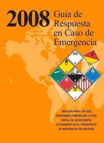 Guia de Respuesta en caso de Emergencia - 2008 - PHMSA