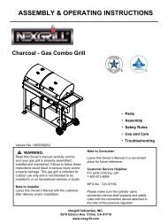 Cover page - the The Nexgrill Official Parts Store