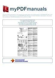 User manual PANASONIC RF-1630 - MY PDF MANUALS