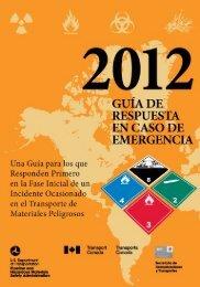 Guia de Respuesta a Emergencias - PHMSA