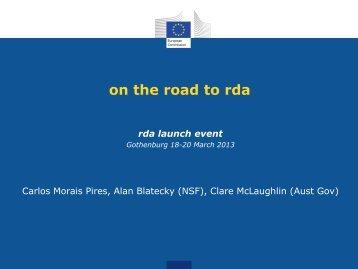 on the road to rda - iCordi Admin