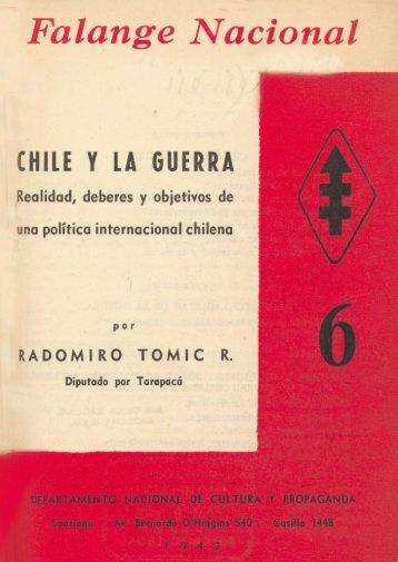 Falange Nacional CHILE Y LA GUERRA - Memoria Chilena
