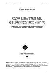 1 Col.lecció Materials Didàctics En ocasiones al ... - Microeconomía
