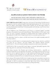 AMAWATERWAYS JOINS VIRTUOSO® NETWORK