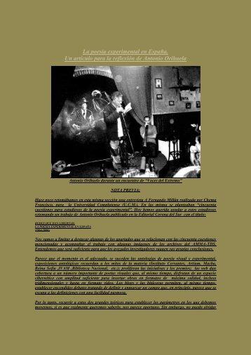 La poesia experimental en España por Antonio Orihuela - Boek 861