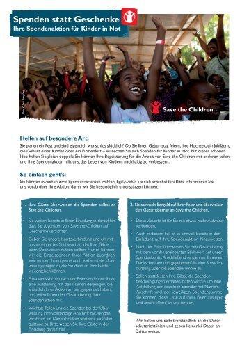 Ausführliches Informationsblatt zum Download ... - Save the Children