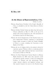 House Resolution 410 - International Campaign for Tibet