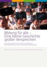 Bildung für alle – Eine kleine Geschichte großer ... - Save the Children