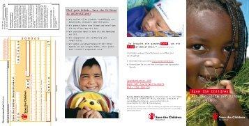 Save the Children Auf der Seite der Kinder seit 1919.