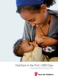 Nutrition in the First 1,000 Days - Save the Children