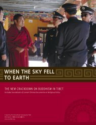 WHEN THE SKY FELL TO EARTH - International Campaign for Tibet