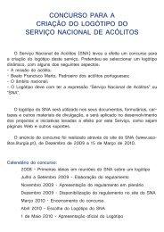 Outros trabalhos apresentados a concurso - Serviço Nacional de ...
