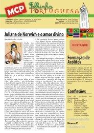 Formação de Acólitos Confissões Juliana de Norwich e o amor divino