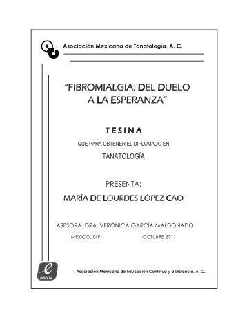 fibromialgia: del duelo a la esperanza - Asociación Mexicana de ...