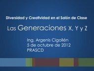 Las Generaciones X, Y y Z - prascd.org