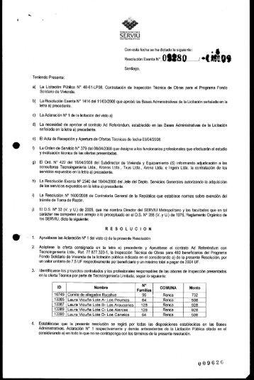 Resolución Exenta N - Documentos Sector Vivienda - Ministerio de ...