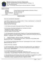 Pauta da Reunião - Ministério da Agricultura, Pecuária e ...