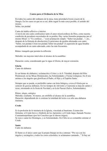 Cantos para el Ordinario de la Misa.pdf - Música Litúrgica