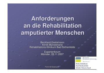 Anforderungen an die Rehabilitation amputierter Menschen aus Sicht