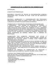 conservação de alimentos por fermentação - Farmácia UNISA 2008