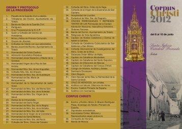 orden y protocolo de la procesión corpus christi - Catedral de Toledo