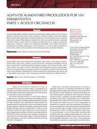 ácidos orgânicos - Revista Analytica