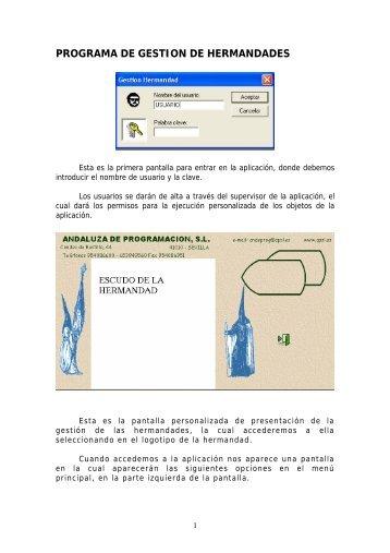 PROGRAMA DE GESTION DE HERMANDADES - APSL