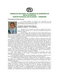 conselho nacional da reserva da biosfera da mata atlântica comitê ...