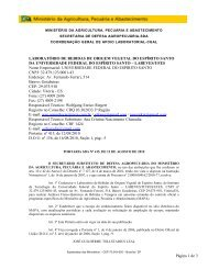 escopo do labeves/ufes - Ministério da Agricultura, Pecuária e ...