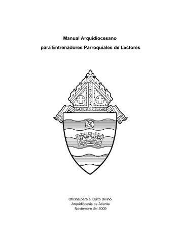 Manual arquidioscesano para entrenadores de lectores