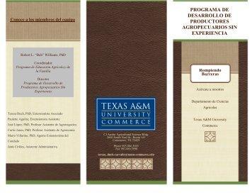 Folleto - Texas A&M University-Commerce