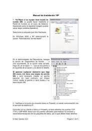 Manual del usuario equipos Ku - Microweb