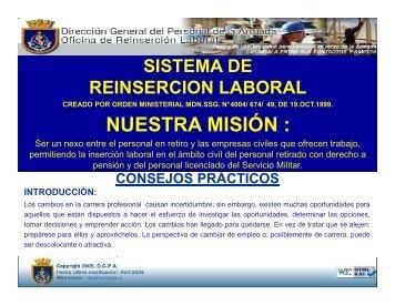 CONSEJOS PRÁCTICOS - Oficina de Reinserción Laboral - Armada ...