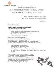 Oración Jornada Equipos Directivos 2010 - Escuelas Católicas