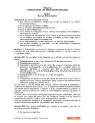 Codigo de Trabajo de Panama - Libro I Titulo VI - Legal Info Panamá