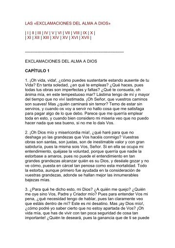 Exclamaciones del Alma a Dios - Catholic.net