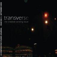 transverse transverse - Centre for Comparative Literature ...