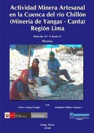 capítulo iii actividades mineras artesanales - Centro de ...