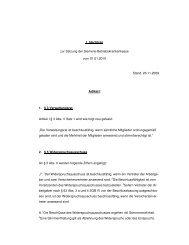 1. Nachtrag zur Satzung vom 1.1.2010 - SBK