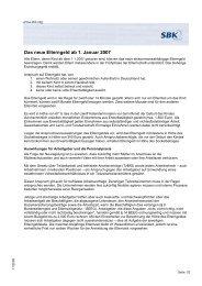 Das neue Elterngeld ab 1. Januar 2007 - SBK