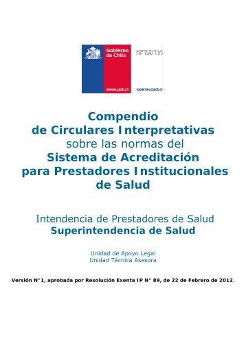 Compendio de Circulares Interpretativas sobre las normas del